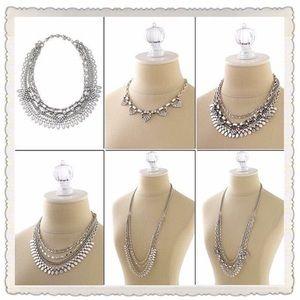 Stella & Dot Sutton Necklace Silver